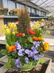 Spring 4-season container garden